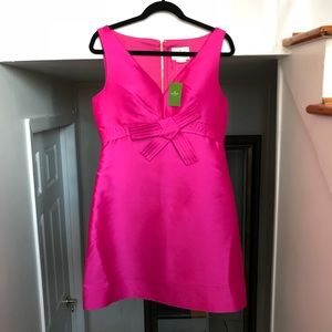 KATE SPADE Hot Pink Origami A Line Dress!